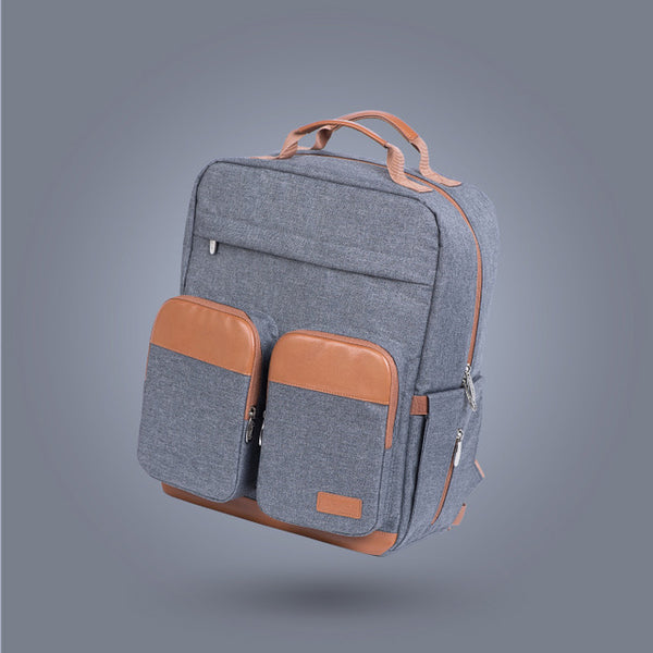 """The City"" Double Pocket Diaper Backpack"
