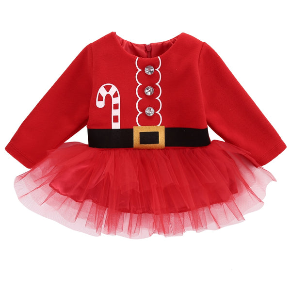 "Girls ""Candy Cane"" Christmas Dress"