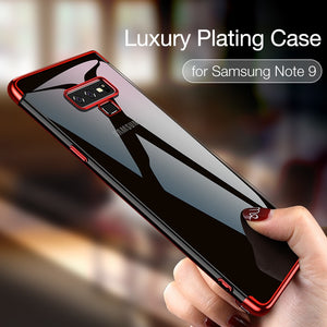 Plating Cover for Galaxy Note 9 Ultra Soft Touch Transparent