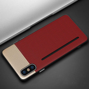 Super Slim Card Holder Leather Phone Case For iPhone X XS XR XS MAX 6 7 8 plus