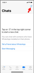 Creating a first message on Whatsapp on iOS and Android