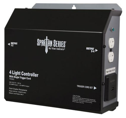 Titan Controls Spartan Series Metal 4 Light Controller 240 Volt w/ Trigger - Universal Outlets