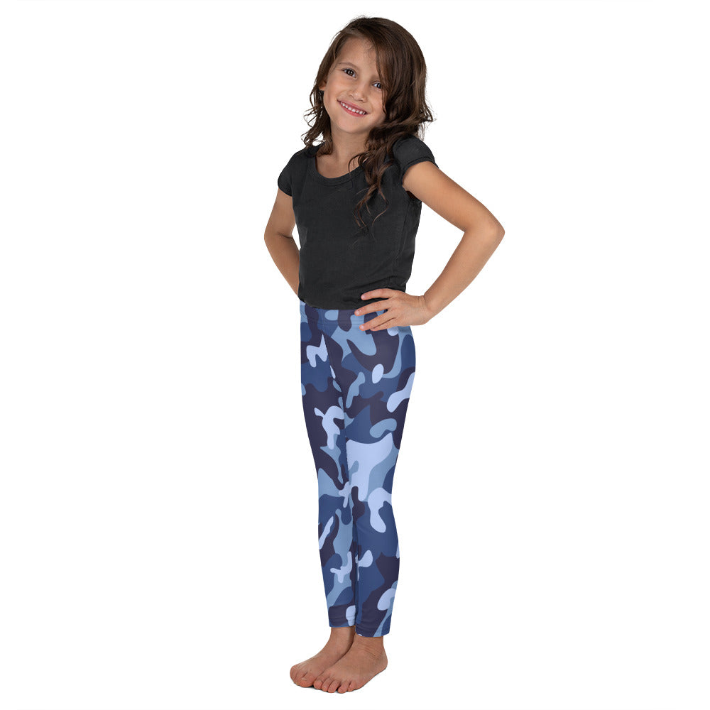 Blue Camo Leggings for Girls