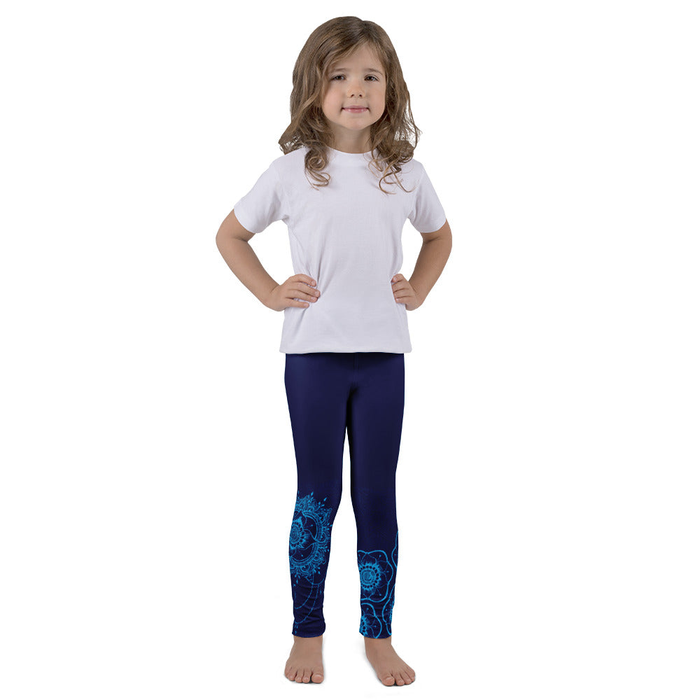 Shakti Original Henna Art (Blue) Leggings for Girls