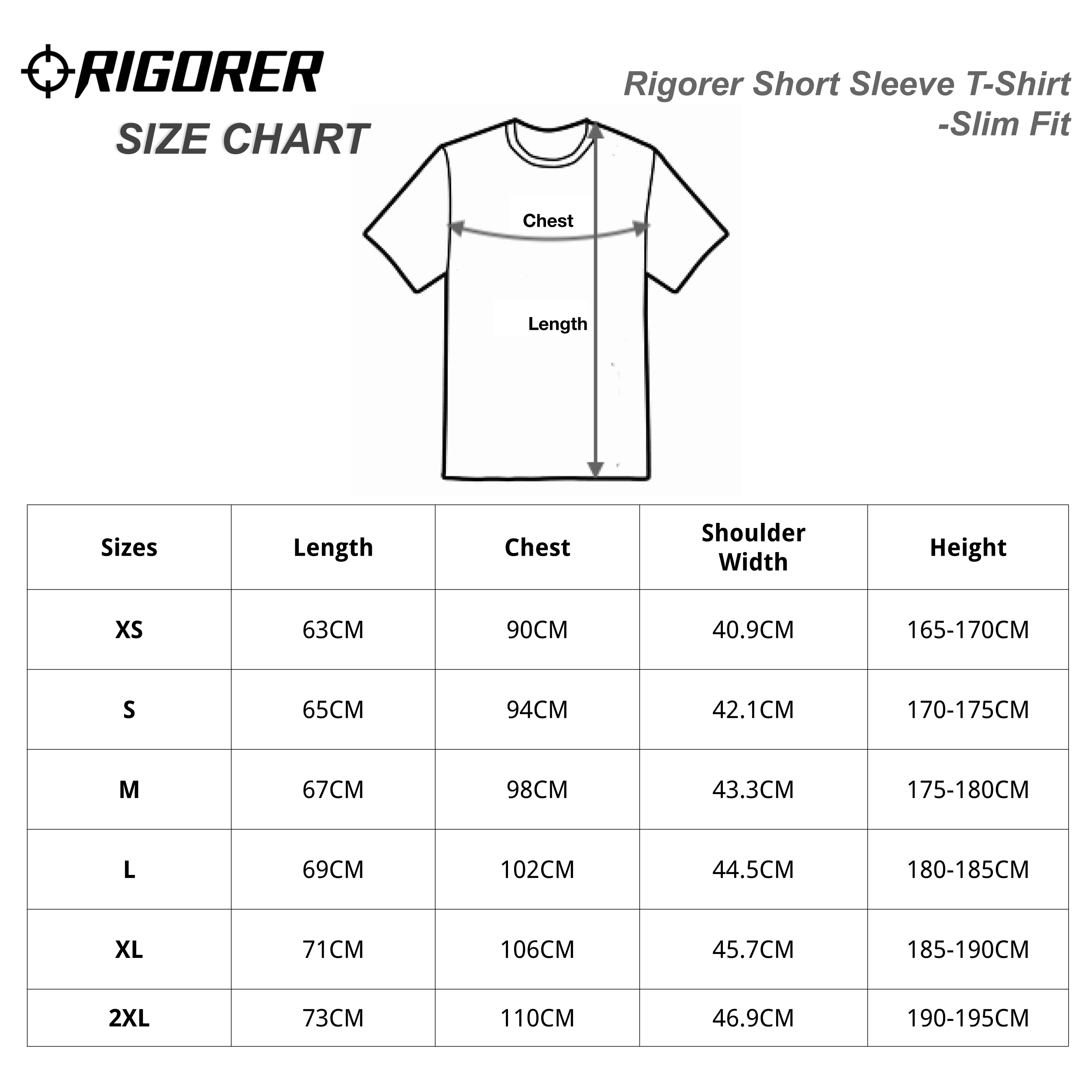 Rigorer Short Sleeve T-Shirt - SLIM FIT