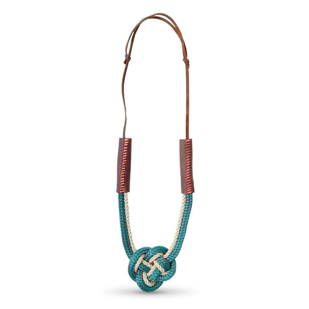 Nautical Heart Knot Statement Necklace in Signature Teal