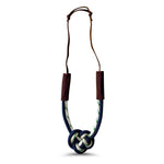 Nautical Heart Knot Statement Necklace in High Tide Blue