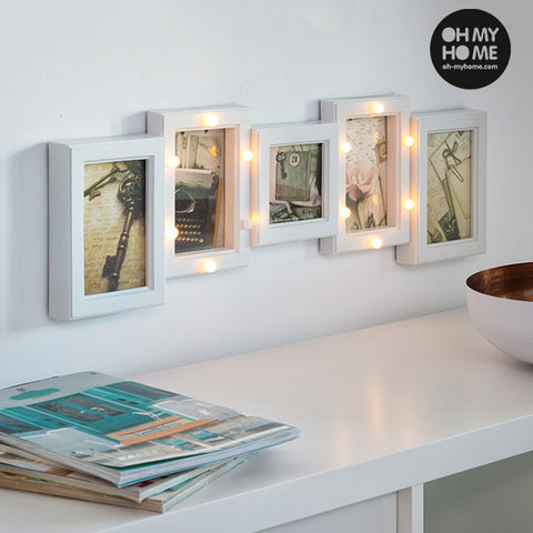 Portafotos LED Oh My Home (5 fotos)