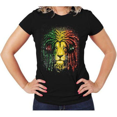 Jamica Colors Lion Women T-Shirts