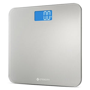 Etekcity Digital Body Weight Bathroom Scale with Step-On Technology, 400 Pounds, Body Tape Measure Included, Elegant Black