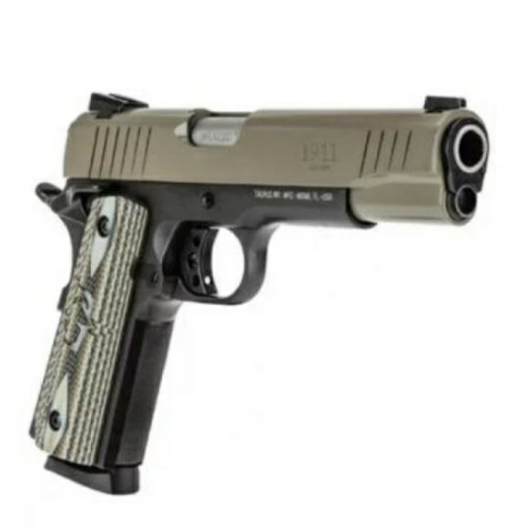 Taurus 1911, cerakoted slide with Hogue G10 grips