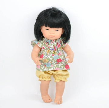 Miniland doll clothing | Bloomers & floral blouse for 38cm doll