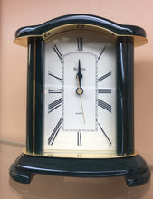 Load image into Gallery viewer, Small Wooden Bulova Desk Clock