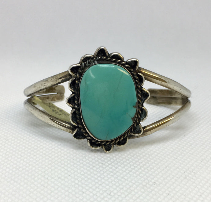 Handmade Turquoise Silver Cuff Bracelet