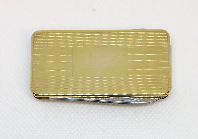 Men's Money Clip & Pocket Knife Combination