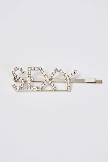 Diamante Slogan Hair Slides