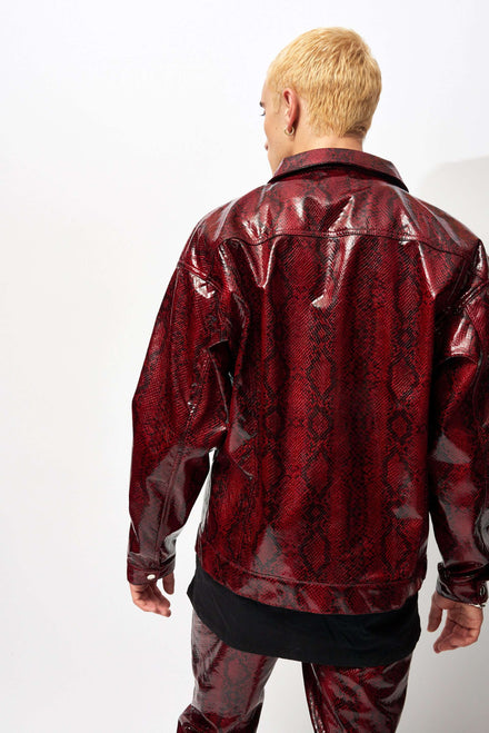 Red PU Snake Jacket