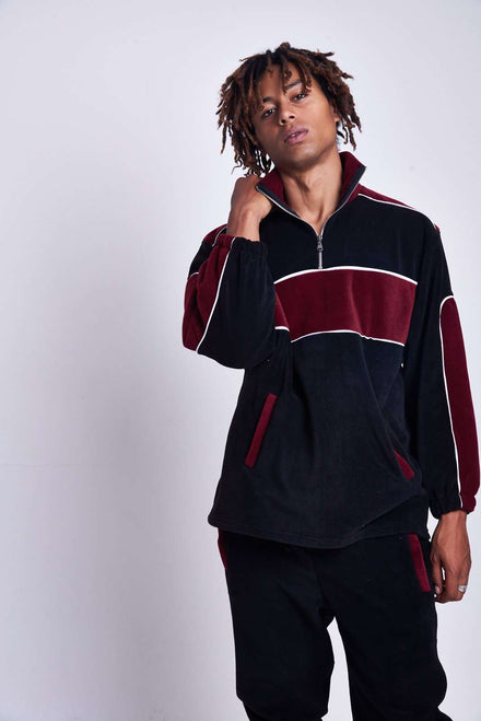 Burgundy Overhead Panel Fleece