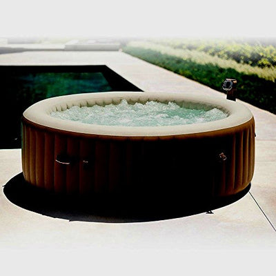 Outdoor Portable Massage Hot Tub Water Pool Floats Digital Spa Inflatable 6-Person Heated Bubble Jet - Skroutz