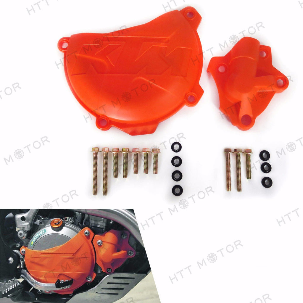 Clutch Cover Protection Water Pump Protector For KTM 350 EXC-F SIX DAYS 2012-16