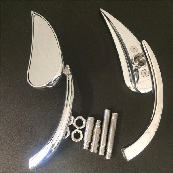 Claw Style Rearview Mini Mirror For Harley Street Sports Cruiser Chrome New