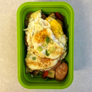 Chorizo Sweet Potato Egg Skillet