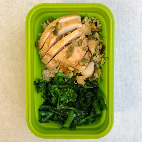 Roast Chicken with Cranberry Cilantro Rice