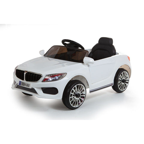 12V 3 Series Style Saloon Kids Ride On Car - White - EpicStuff
