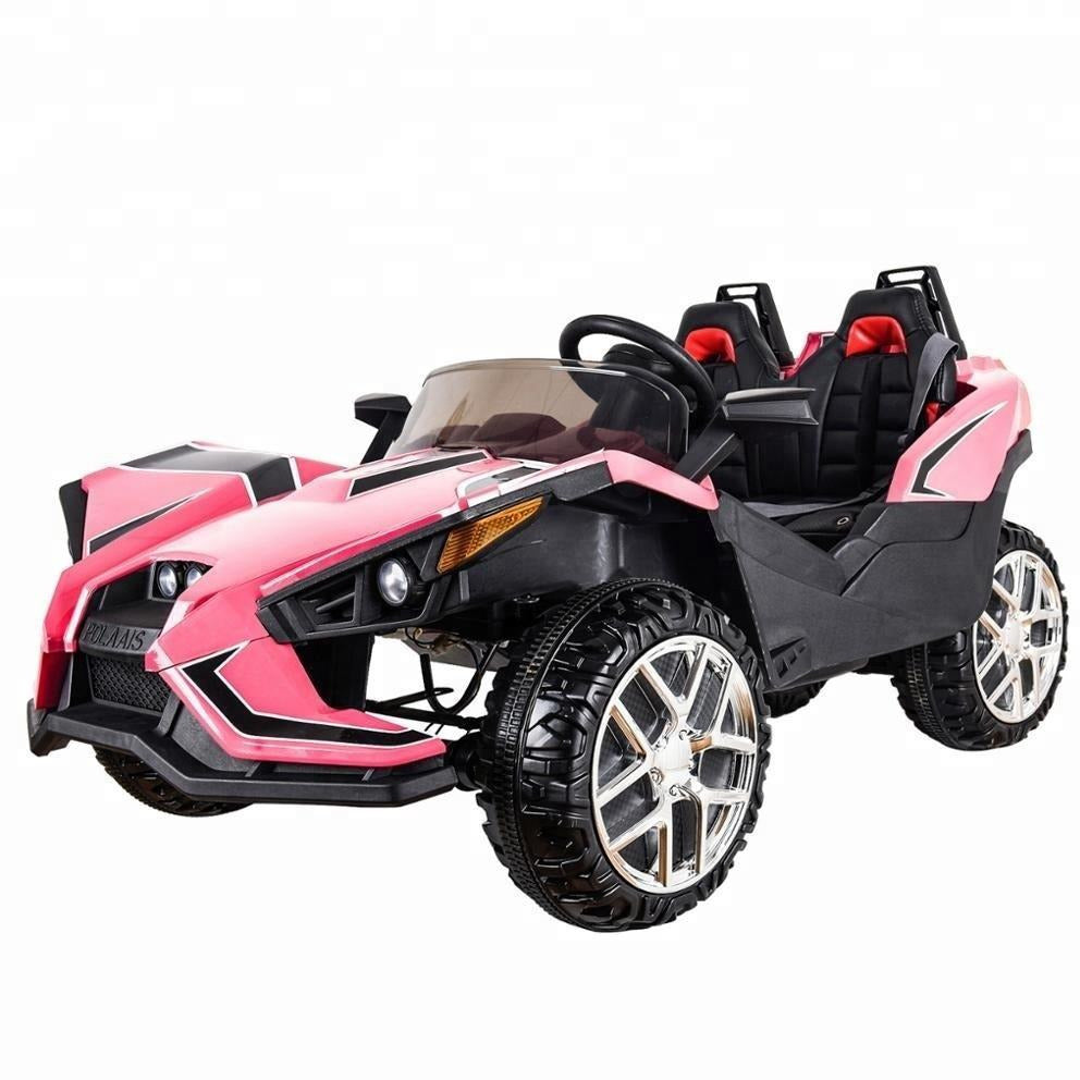 Polaais 12V Kids ride ATV Buggy with Parental RC - Pink - EpicStuff