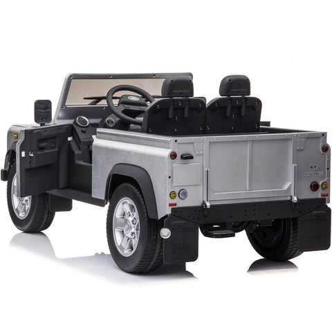 Licensed Land Rover Defender 4WD 12V Kids ride on jeep - EVA tyres - Silver - EpicStuff