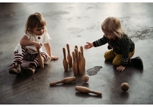 Load image into Gallery viewer, Wooden Bowling Set - Natural