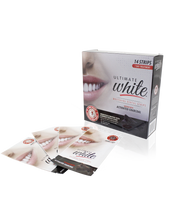 Load image into Gallery viewer, Ultimate White Whitening Dental Strips Infused With Activated Charcoal 7 Day Treatment