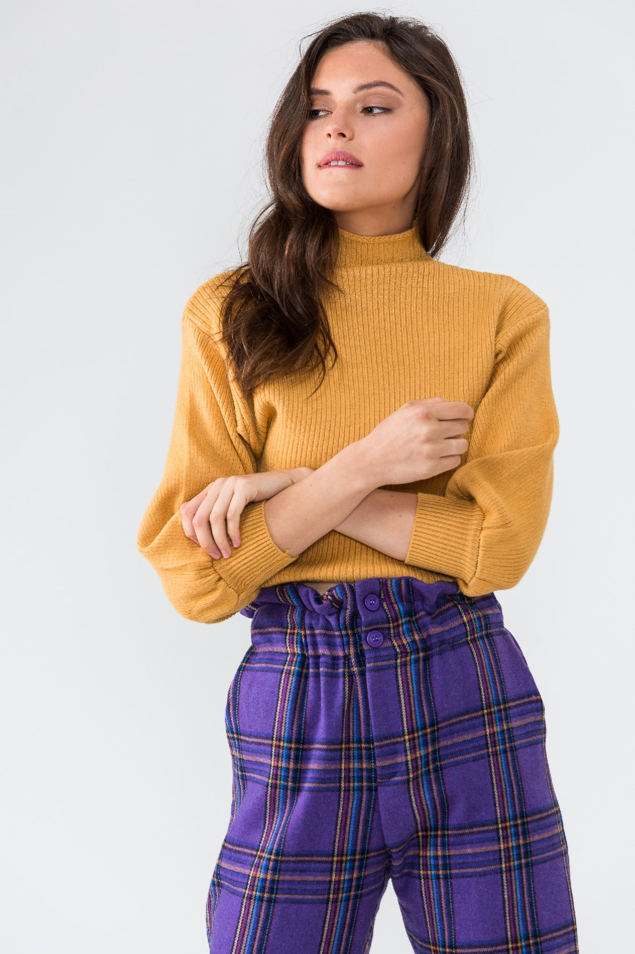 BASICALLY PERFECT top (mustard)