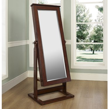 Alcott Hill Cassell Jewelry Armoire with Mirror