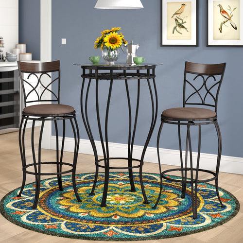 Alcott Hill Northridge 3 Piece Pub Table Set