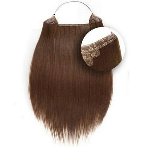 "Hidden Halo Straight Synthetic Hair 18"" Color#10"