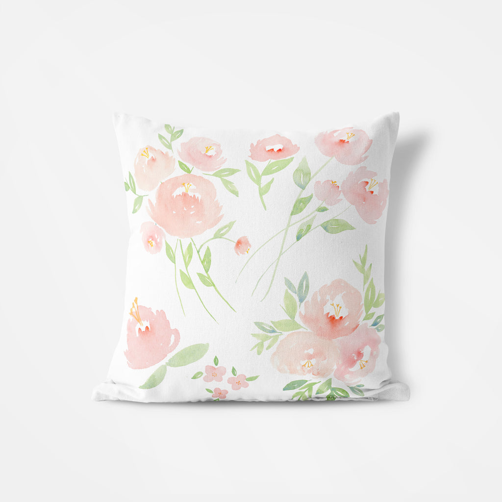Peach Floral Pillow