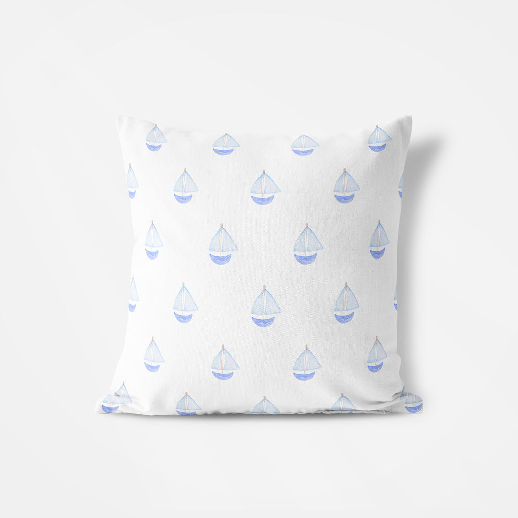 Nautical Sailboat Pillow