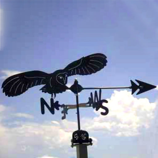 Barn Owl Silhouette Steel Weathervane