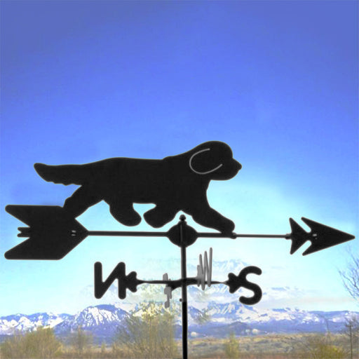 Bearded Collie Silhouette Steel Weathervane