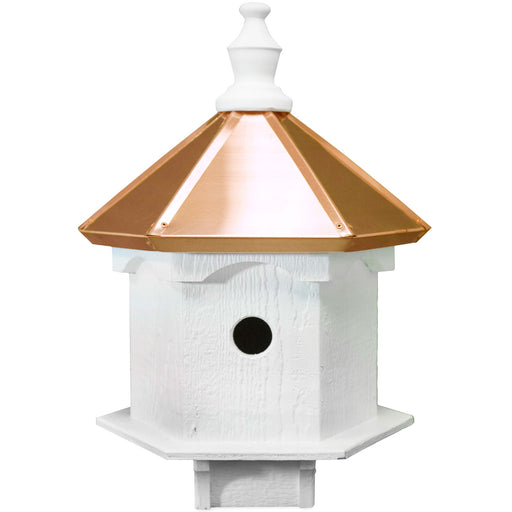 Amish 22ʺ Copper Top Double Bluebird House