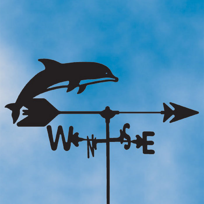 Dolphin Silhouette Steel Weathervane