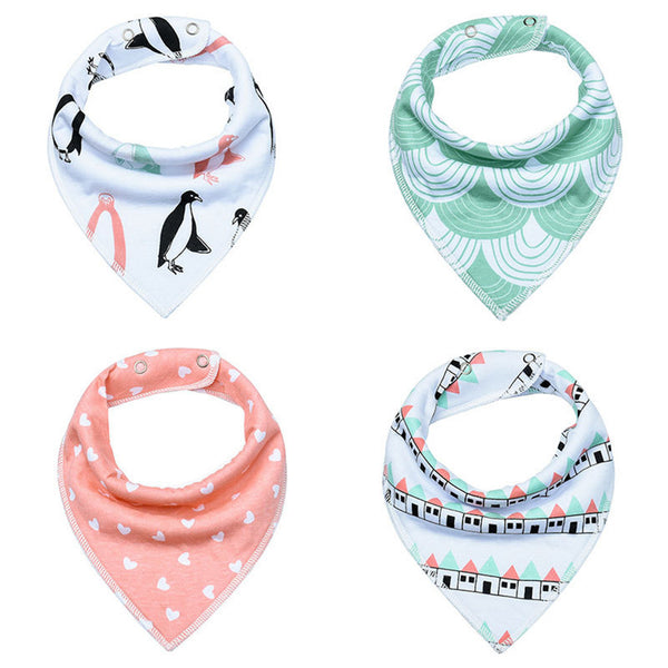 8 Pcs Cotton Baby Bibs