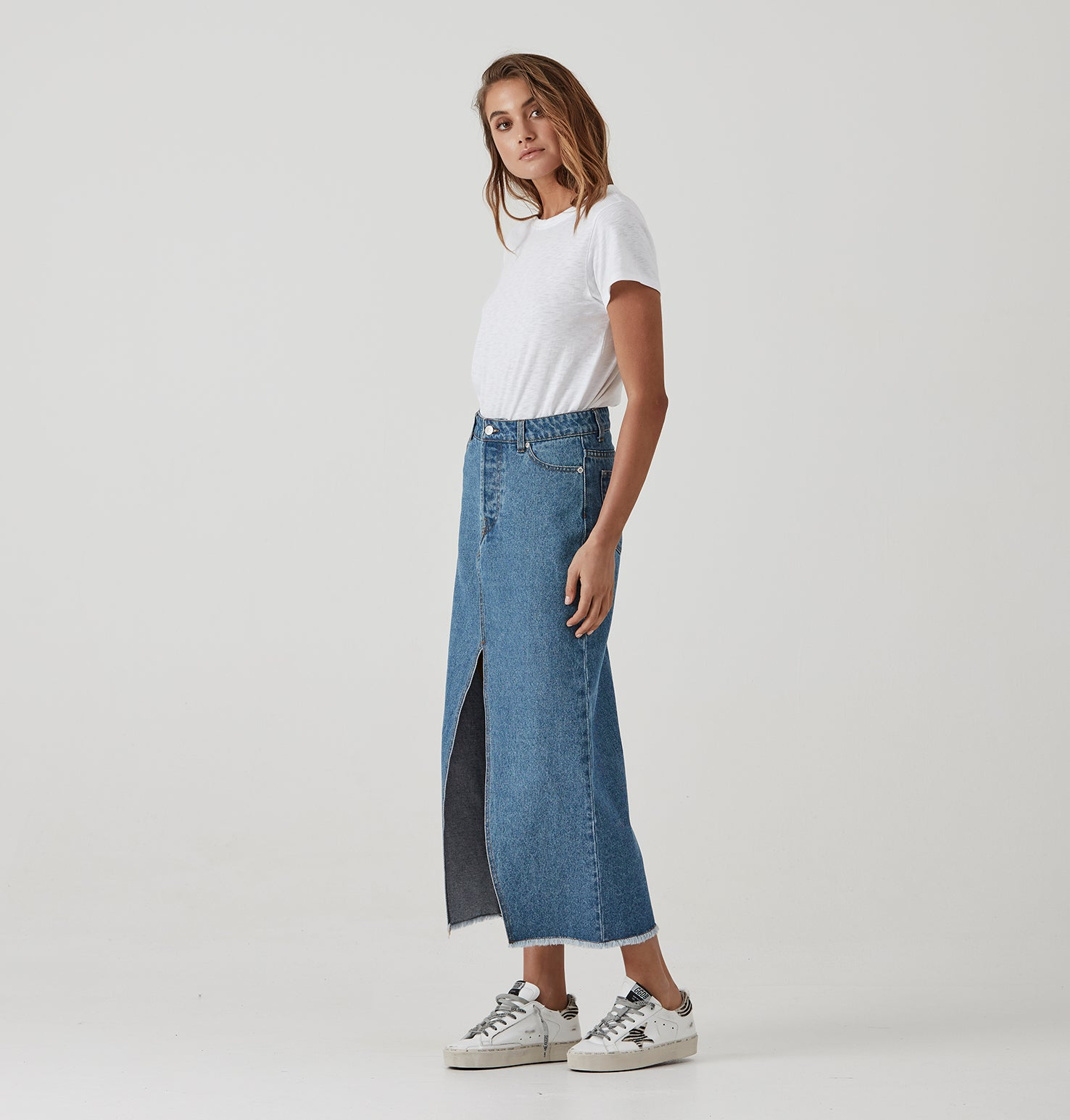 Boyfriend Denim Skirt