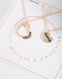 Mother & Daughter Gold Necklace Set