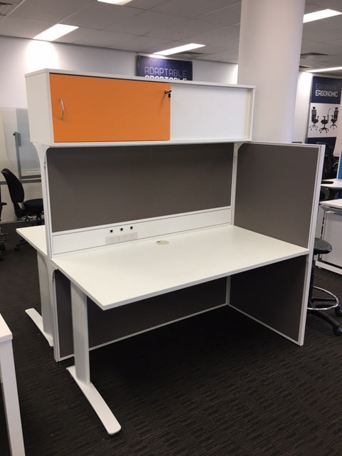 SHOWROOM CLEARANCE  STOCK - SYMMETRY 2 PERSON WORKSTATION WAS $2,725 NOW $990