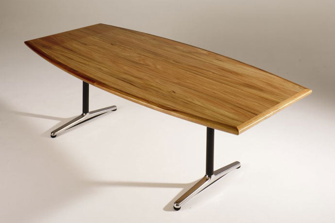 H9000 NATURAL TIMBER VENEER BOARDROOM TABLE