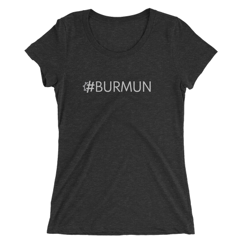 #BURMUN Women's Triblend Fitted T