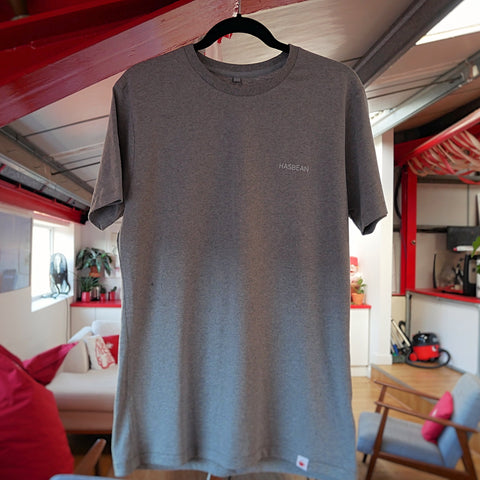 Hasbean Grey Melange T-Shirt. Hasbean.co.uk