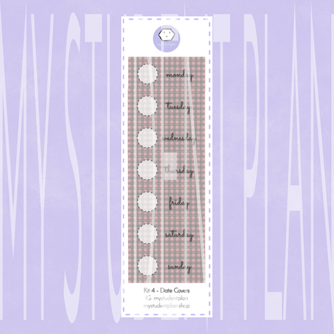 Date Cover Stickers | Kit#4